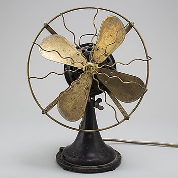 A mid 20th century table fan by EMI Utrech.