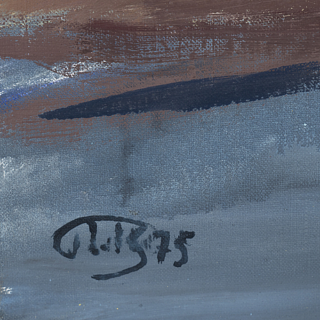John ivar berg, oil on canvas, signed with monogram. dated 75