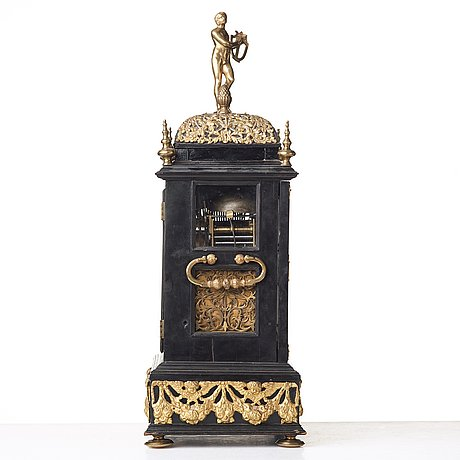 Claudius du chesne musical table clock (clockmaker in london 1693-1730), circa 1705, queen anne.