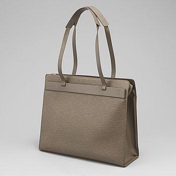LOUIS VUITTON, Grey EPI leather 'croisette' MM.