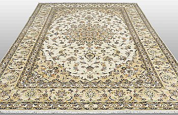 A carpet, Kashan, 353 x 245 cm.
