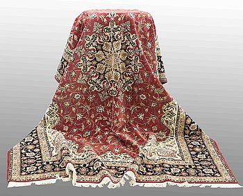 MATTA, Tabriz part silk, so called 50 Radj, 356 x 252 cm.