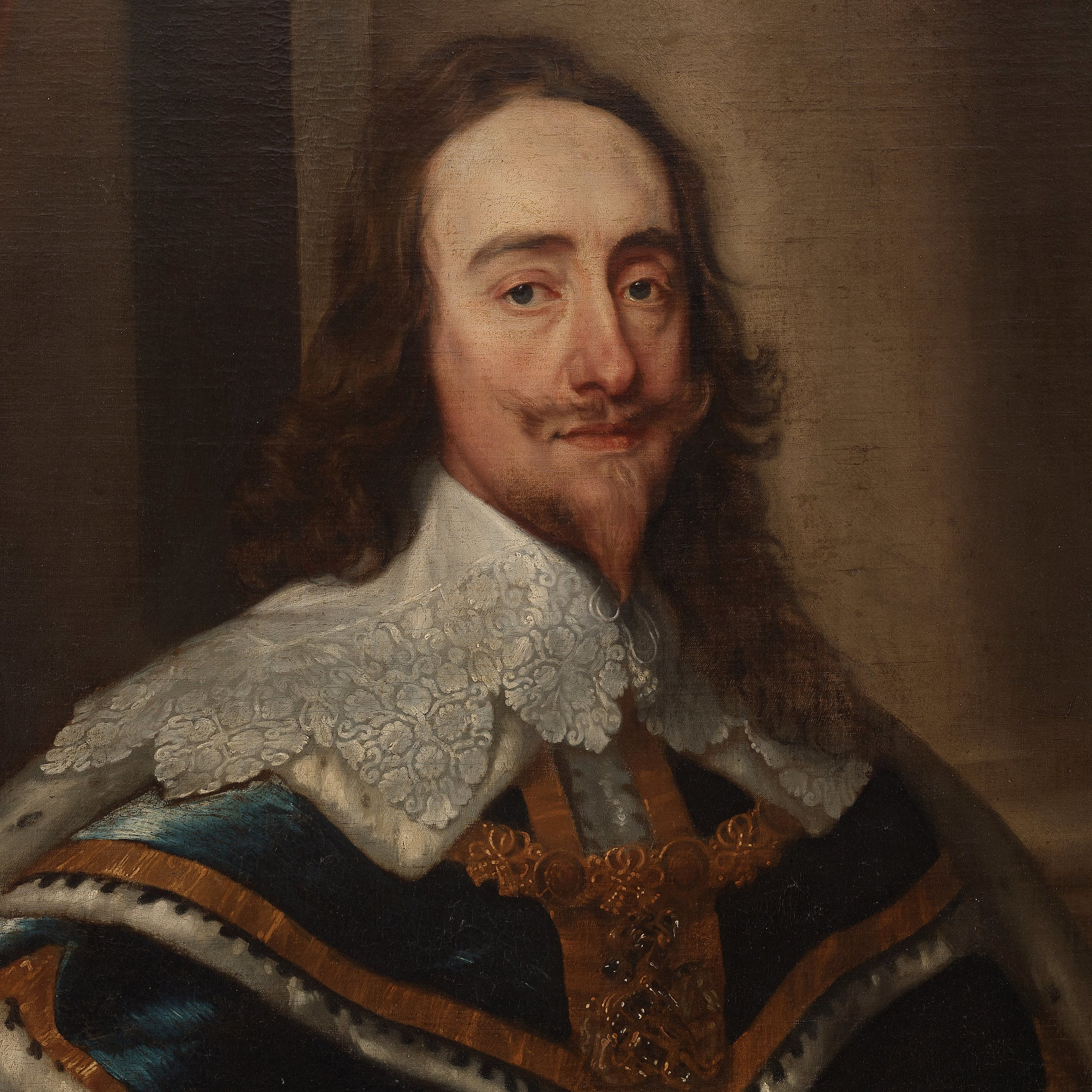 Antonis van Dyck Follower of, King Charles I of England in Robes ...