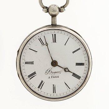 """FICKUR, """"BREGUET A PARIS"""", sekelskiftet 1800, ca 53 mm."""