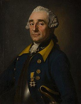 KARL FREDRIK BRANDER, Porträtt av Arvid von Göben 1714-1794.