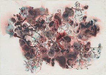 ERIK JEOR, akvarell och pigment på papper.