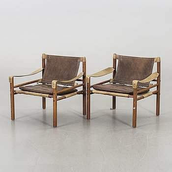 """A PAIR OF ARNE NORELL """"SIROCCO"""" ARMCHAIRS, 1960's."""
