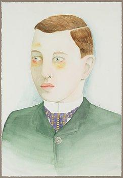 EMMA TRYTI, akvarell på papper, signerad.