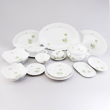 A 51-piece Hutschenreuther Selb Dresden porcelain dinner set, Bavaria Germany.