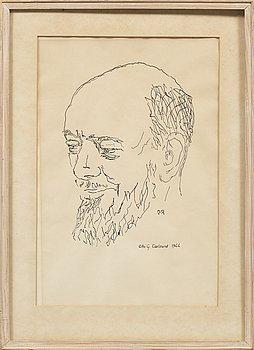 OSCAR REUTERSWÄRD, teckning, signerad OR och daterad 1944.