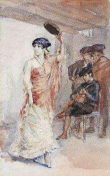 "193. Albert Edelfelt, ""Spansk dansös""."
