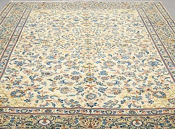 A CARPET, Kashan, signed 417 x 290 cm.