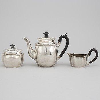 MOCCASERVIS, 3 delar, silver, bland annat Aterlier Borgila, Stockholm, 1931.