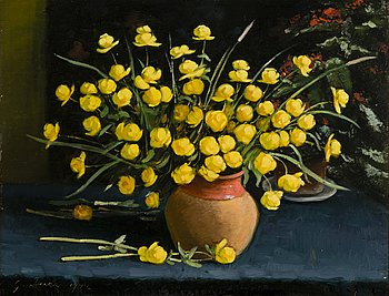 GRIGOR AUER, oil on board, signed and dated 1944.