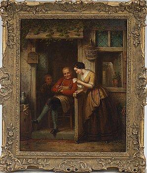 ANDRIES SCHEERBOOM, olja på duk, signerad och daterad 1866.