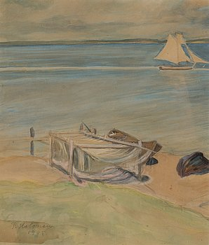 PEKKA HALONEN, akvarell, signerad och daterad 1905.