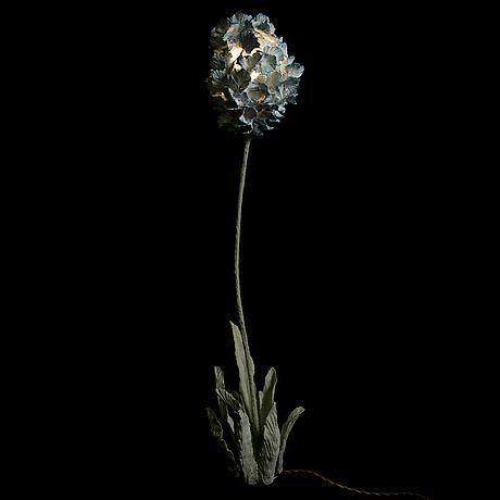 Teemu salonen, a floorlamp/sculpture 'flower 5', signed teemu salonen 2014.