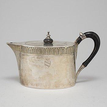 TEKANNA, silver, okänd mästare, Dresden, Tyskland, 1800-tal.