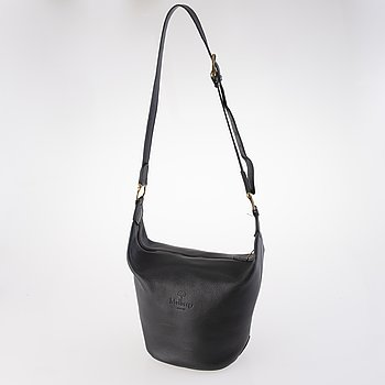 MULBERRY 1990s Black Leather Cross Body Bag.
