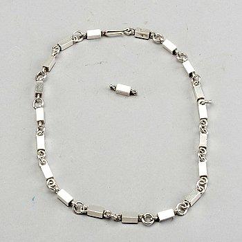 WIWEN NILSSON, sterling silver, halsband, Lund, 1956.