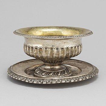 JOHAN BOYE, såskål, silver, Stockholm, 1838.