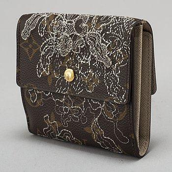 """LOUIS VUITTON, plånbok, """"Silver Monogram Dentelle Elise Wallet"""", Limited edition 2006."""
