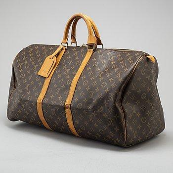 "LOUIS VUITTON, väska ""Keepall 55""."