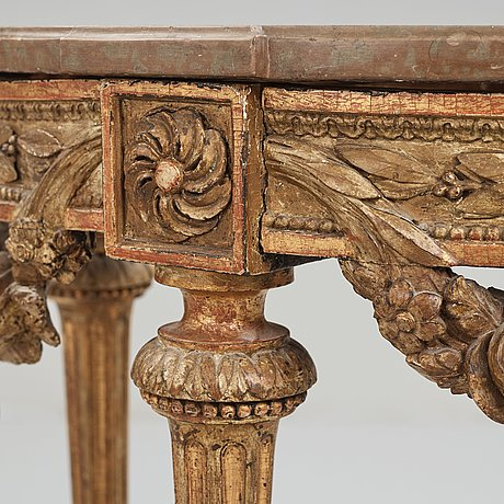 A gustavian late 18th century console table.