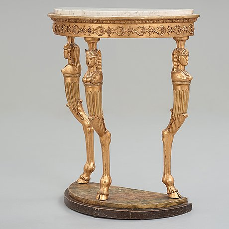 A late gustavian circa 1800 console table.