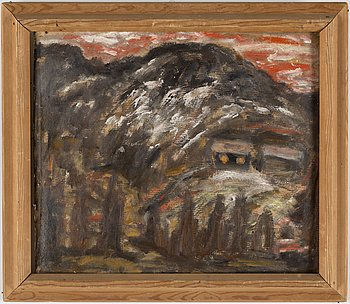 JOHANNES RIAN, oil on board, signed and dated 1936.