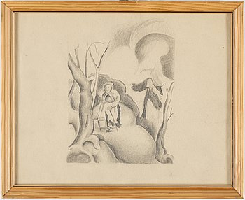 JOHANNES RIAN, two drawings, signed.