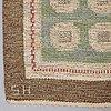 Edna martin, edna martin, a carpet, flat weave, ca 240 x 161,5 cm, signed sh (svensk hemslöjd).