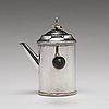 A swedish 18th century silver coffee-/ milk- pot, mark of erik holmberg, lund 1795.