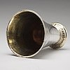 A swedish 18th century parcel-gilt silver beaker, mark of johan berg, stockholm 1775.