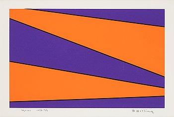 OLLE BAERTLING, färgserigrafi, signerad och numrerad 20/100.