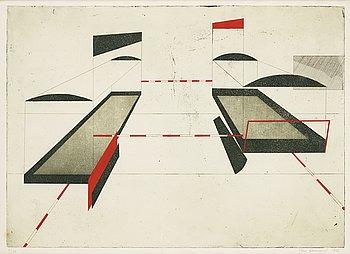 STEN EKLUND, etching, coloured, signed 4/20. Dated 1967.