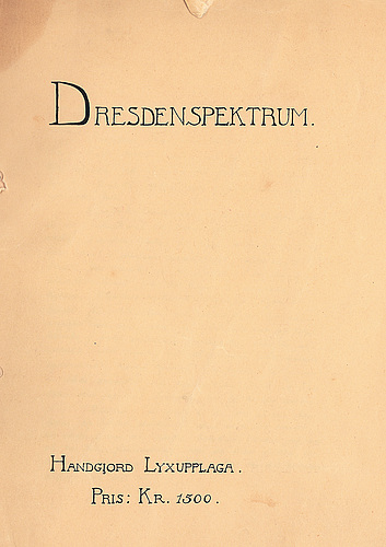Otto g carlsund, ink and watercolour, signed and dated dresden 1922.
