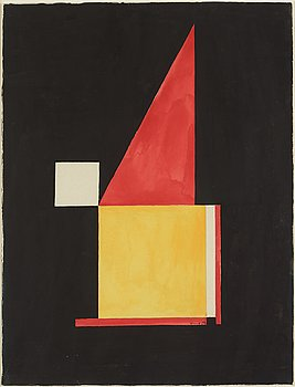 BENGT ORUP, gouache on paper, signed and dated -53.