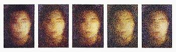 JAN SVENUNGSSON, olja på duk, 5 delar, signerade och daterade 1987 à tergo.