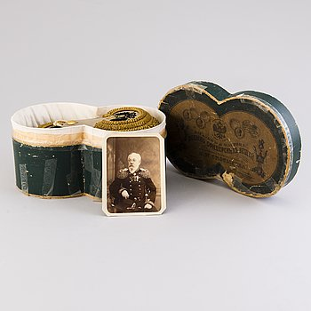 Epåletter ett par, ryska, tillhörande konteramiralen  Alexander Johan Fredrik Armfelt 1826-1898.