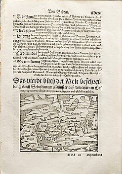 EXTRACT FROM MÜNSTER. MÜNSTER, SEBASTIAN. 36 pages from Cosmographia, Basel 1569.