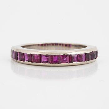 An half eternity ruby ring.