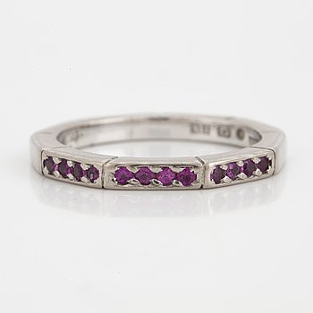 A Gaudy pink sapphire ring.