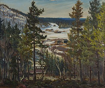 MATTI TASKINEN, oil on canvas, signed and dated 1947.