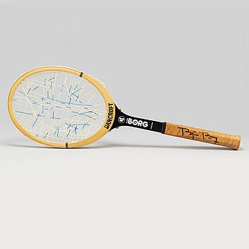 Björn Borg, a used tailor made signed 'Bancroft Borg Personal' tennis racket 1977-79. With a certificate.