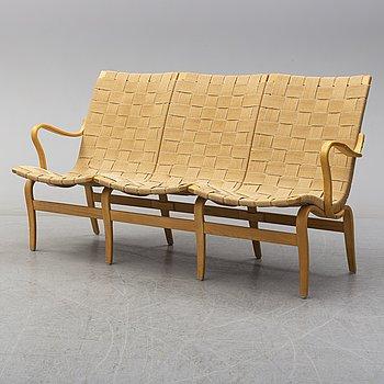 "BRUNO MATHSSON, soffa, ""Eva"", Firma Karl Mathsson, 1971."