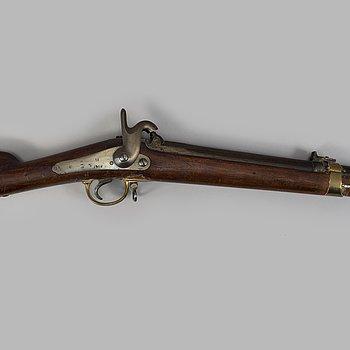 SLAGLÅSGEVÄR, miniégevär m/1857.