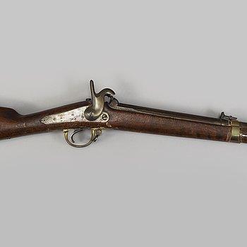 SLAGLÅSGEVÄR, svenskt miniégevär m/1857.