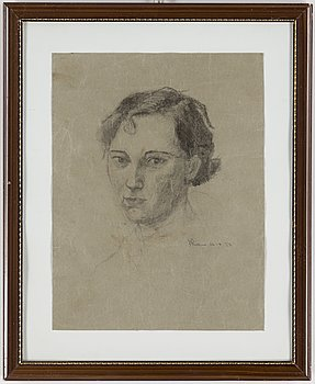 JOHANNES RIAN, drawing on paper, signed and dated 26-4 -27.
