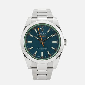 ROLEX, Oyster Perpetual, Milgauss, Chronometer, wristwatch, 40 mm.